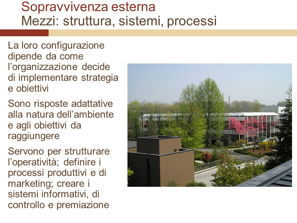 Sopravvivenza esterna Mezzi: struttura, sistemi, processi
