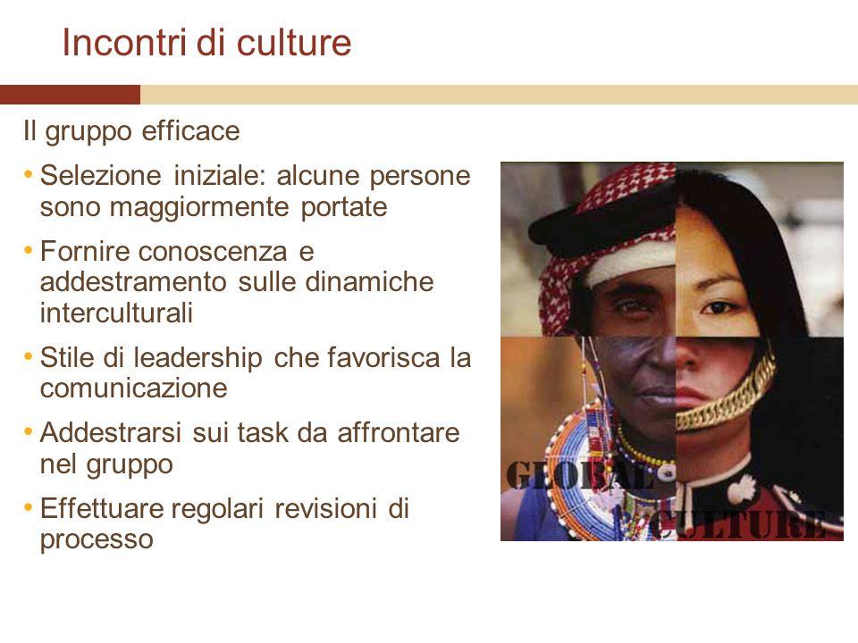 Incontri di culture Il gruppo efficace
