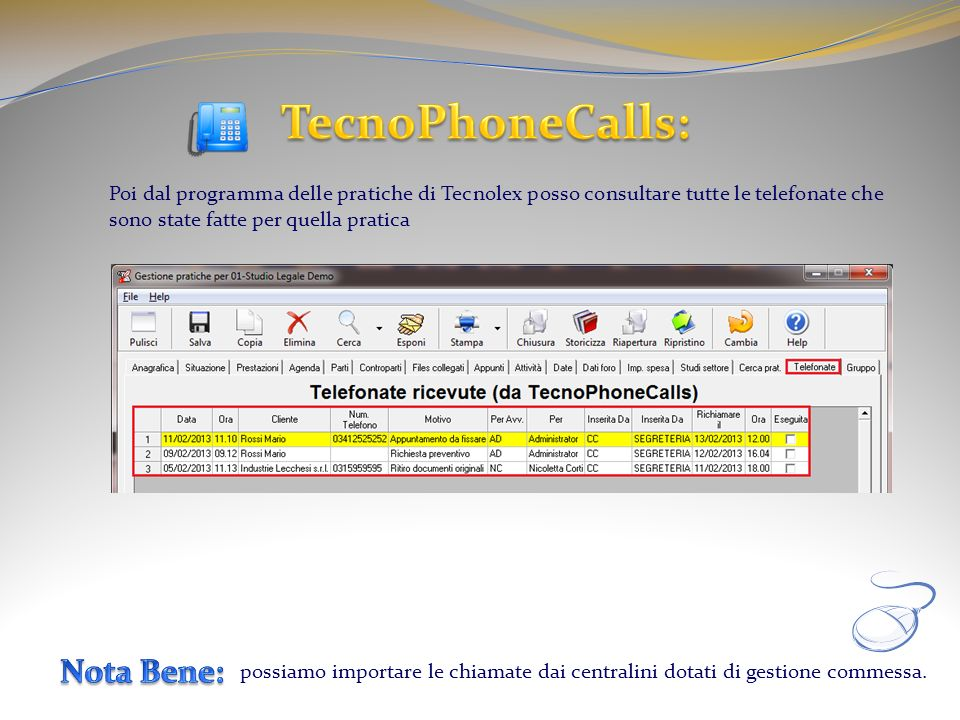 TecnoPhoneCalls: Nota Bene: