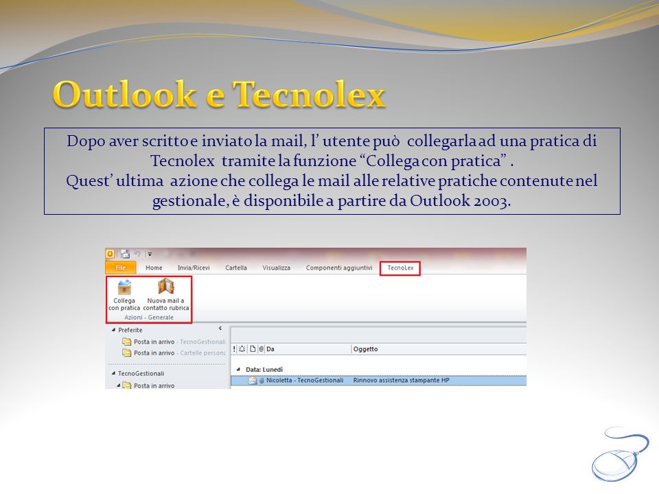 Outlook e Tecnolex