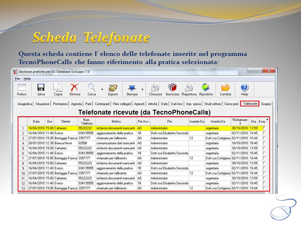 Scheda Telefonate