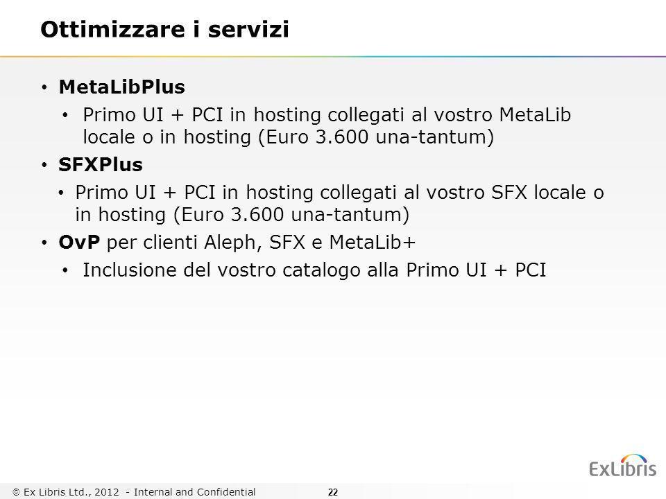 Ottimizzare i servizi MetaLibPlus