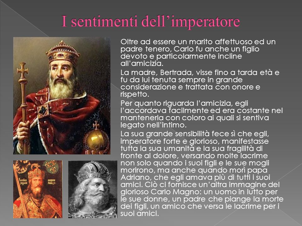 I sentimenti dell'imperatore