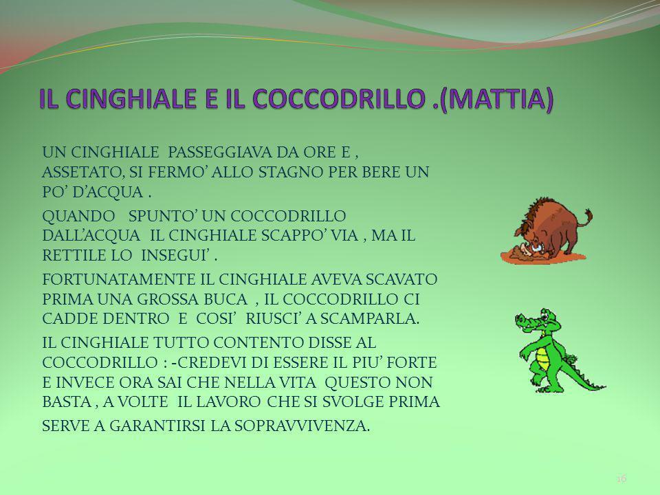 IL CINGHIALE E IL COCCODRILLO .(MATTIA)