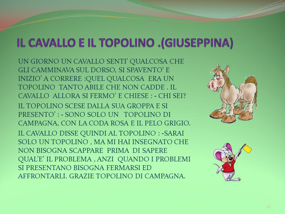 IL CAVALLO E IL TOPOLINO .(GIUSEPPINA)