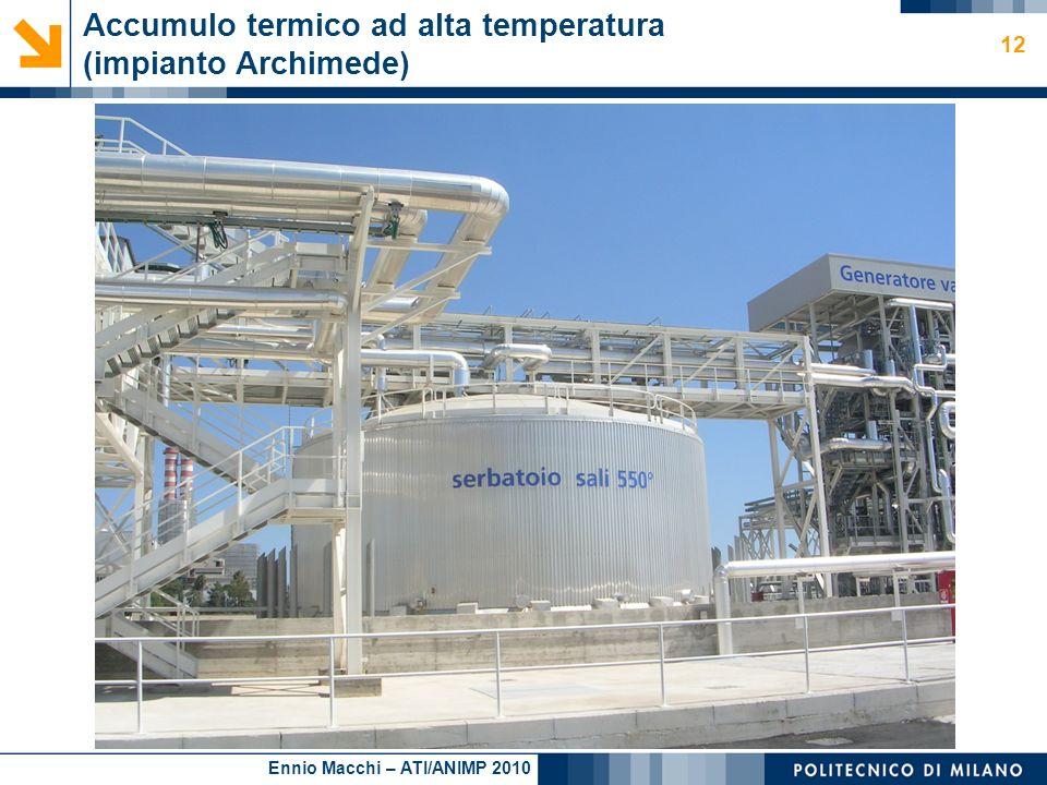 Accumulo termico ad alta temperatura (impianto Archimede)