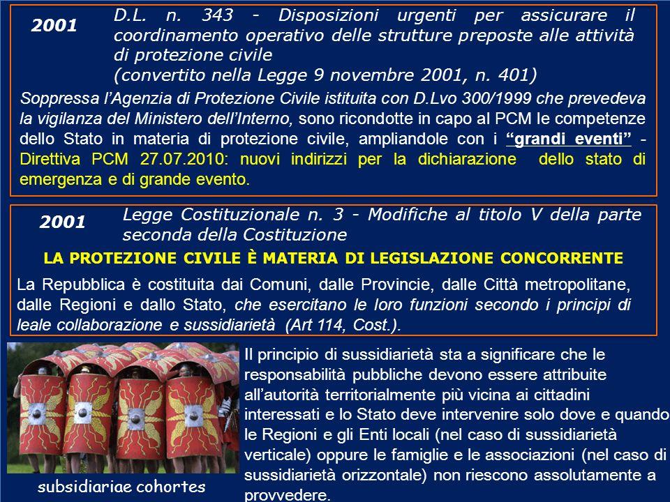 (convertito nella Legge 9 novembre 2001, n. 401) 2001