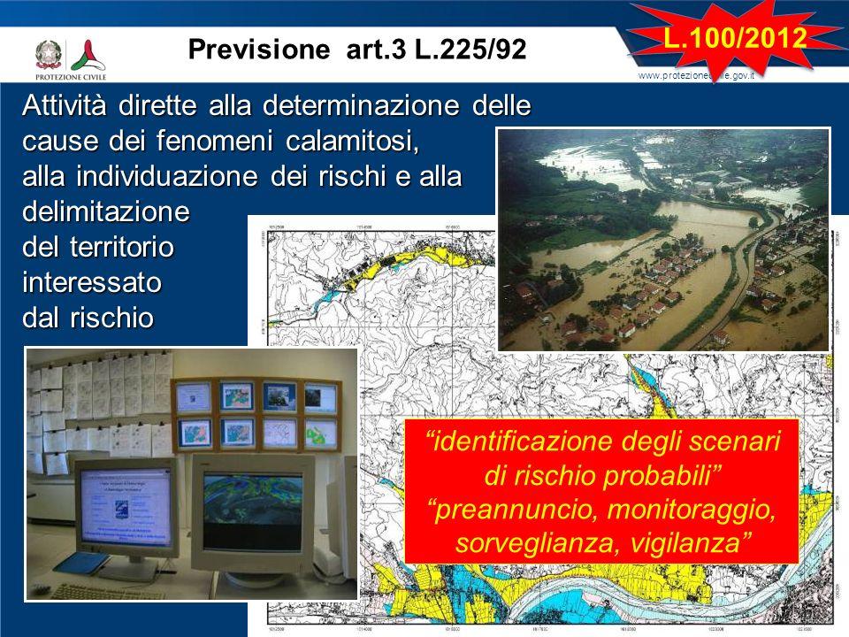 alla individuazione dei rischi e alla delimitazione del territorio