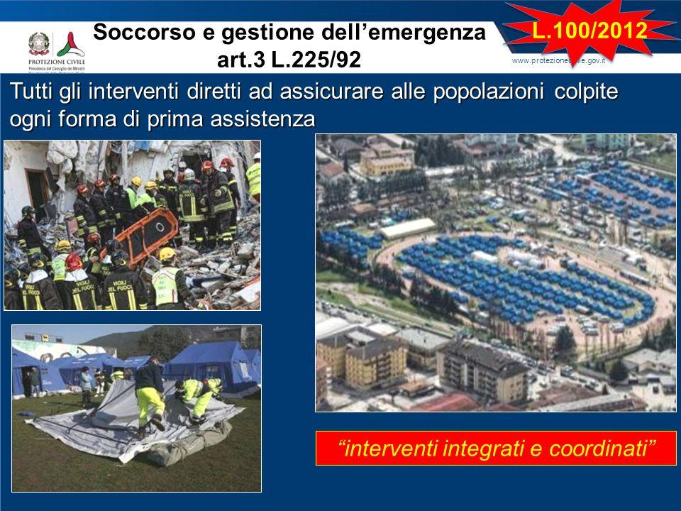 Soccorso e gestione dell'emergenza