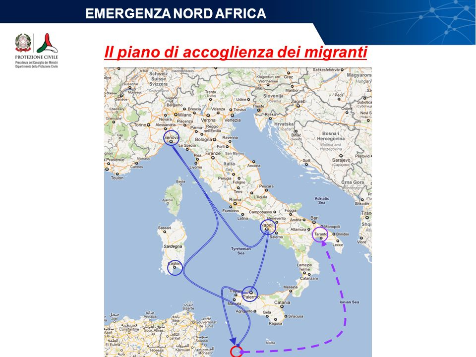Il piano di accoglienza dei migranti