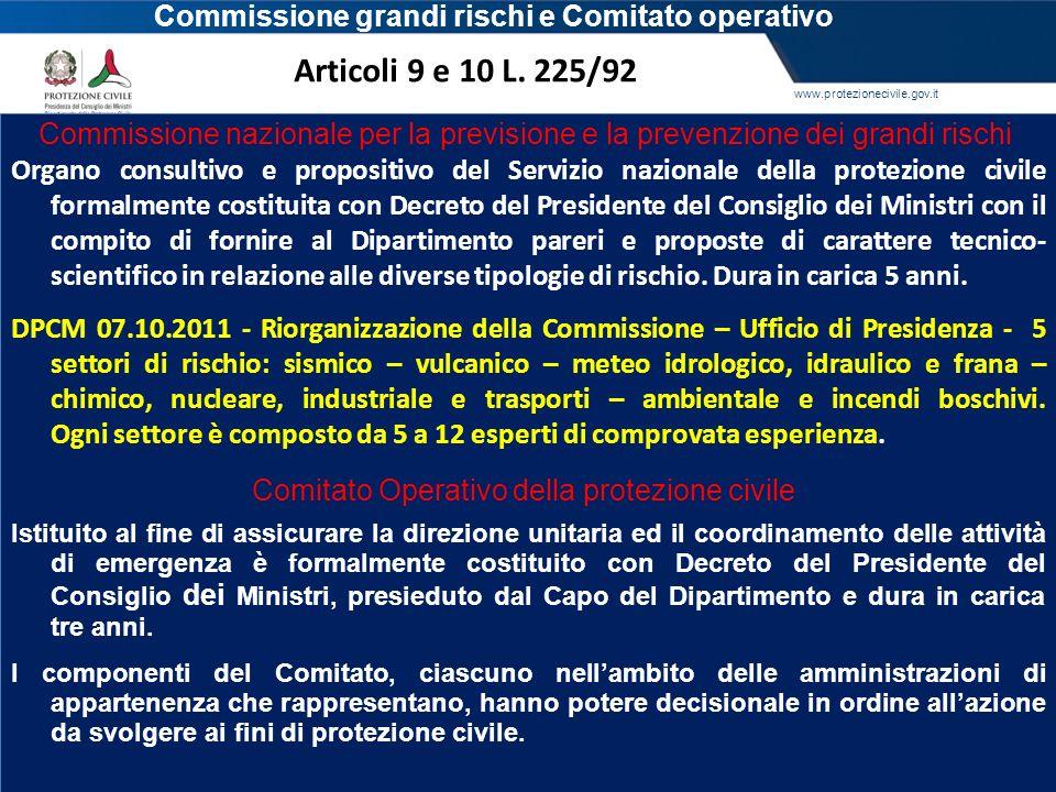Commissione grandi rischi e Comitato operativo