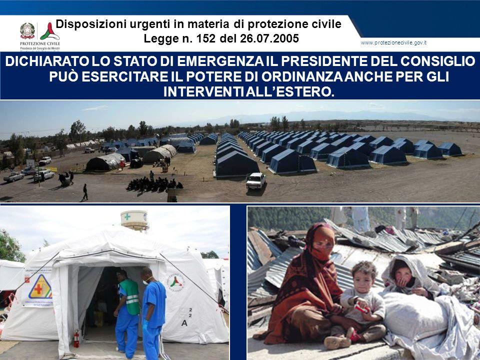 Disposizioni urgenti in materia di protezione civile Legge n