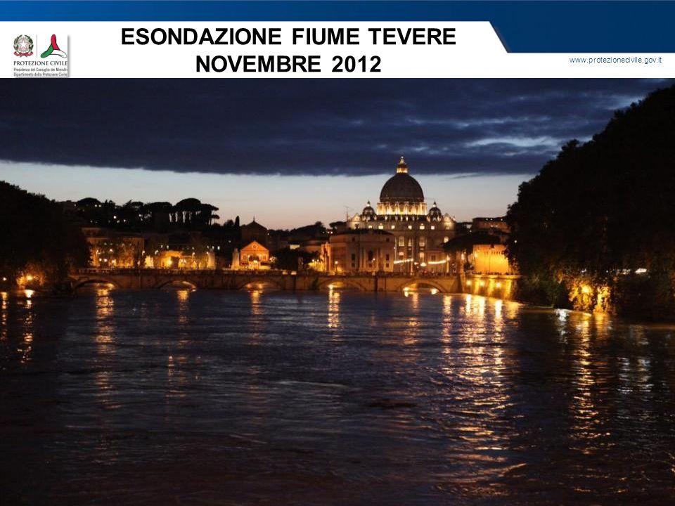 ESONDAZIONE FIUME TEVERE NOVEMBRE 2012