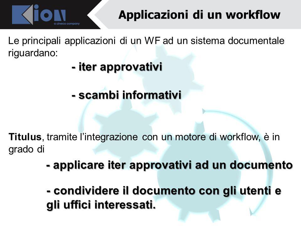 Applicazioni di un workflow