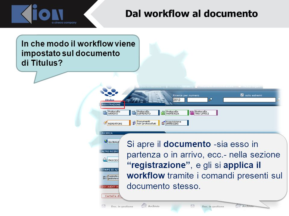 Dal workflow al documento