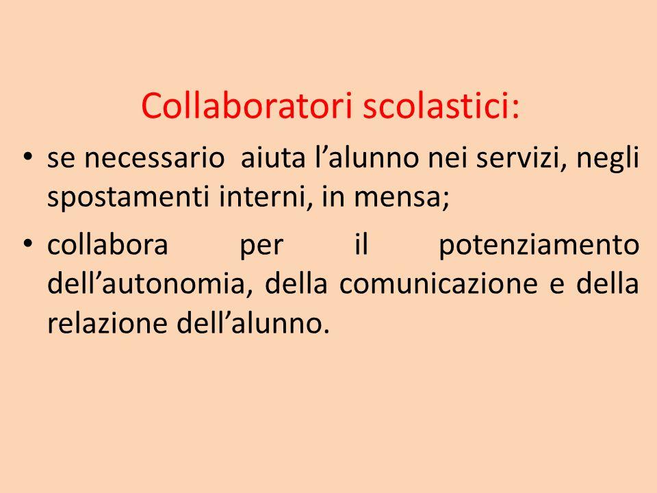 Collaboratori scolastici: