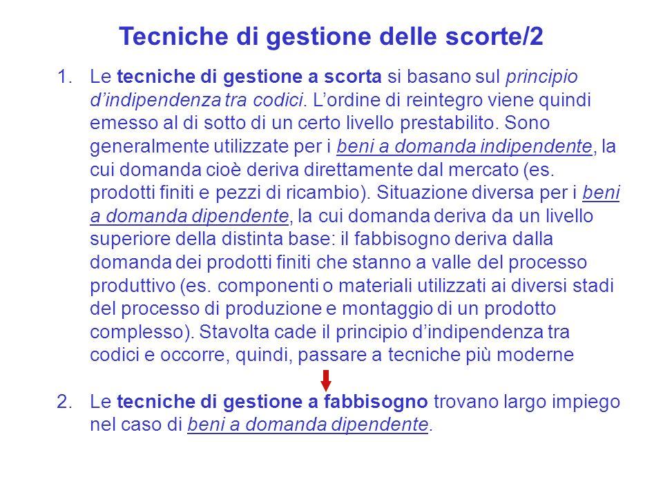 Tecniche di gestione delle scorte/2