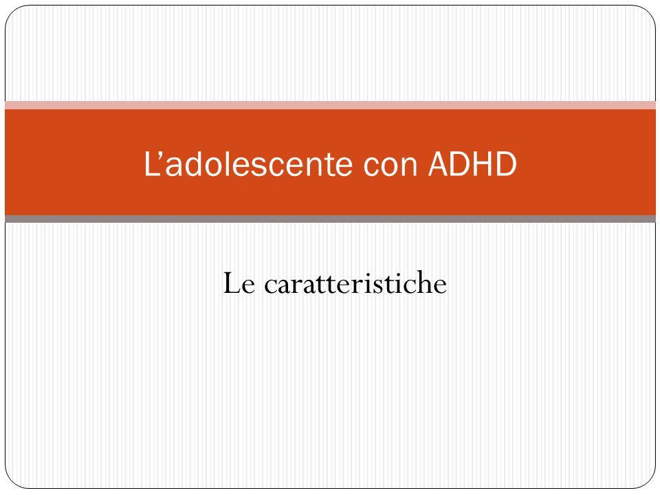L'adolescente con ADHD