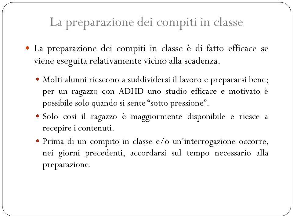 La preparazione dei compiti in classe
