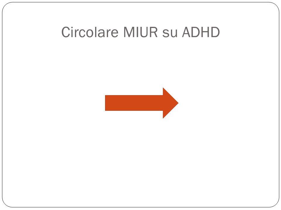 Circolare MIUR su ADHD