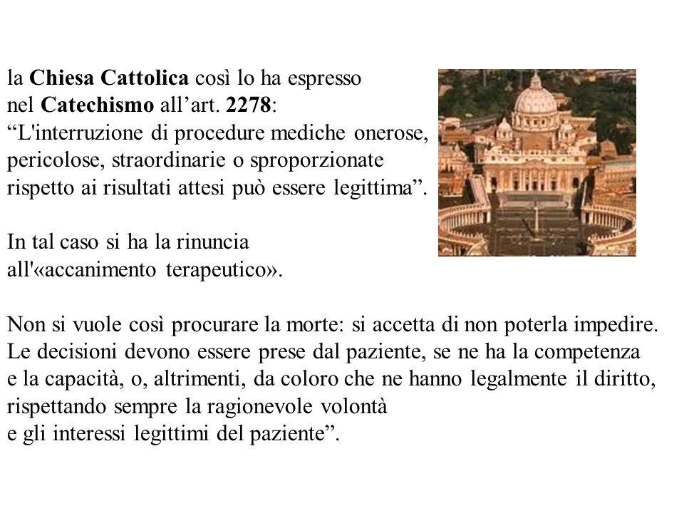 la Chiesa Cattolica così lo ha espresso