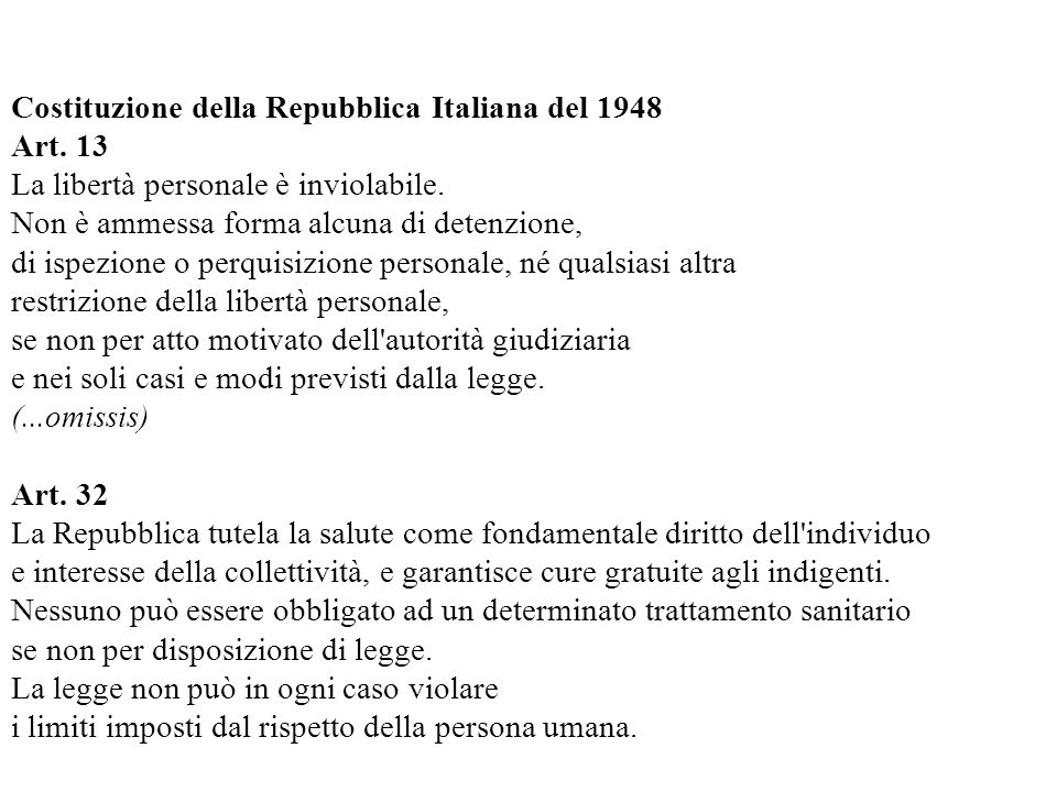 Costituzione della Repubblica Italiana del 1948