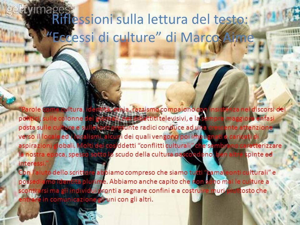 Riflessioni sulla lettura del testo: Eccessi di culture di Marco Aime