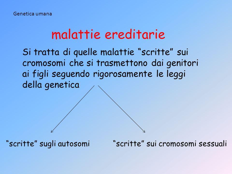 Genetica umanamalattie ereditarie.