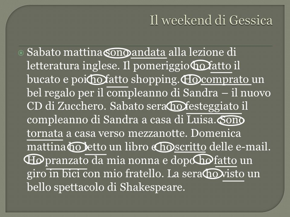 Il weekend di Gessica