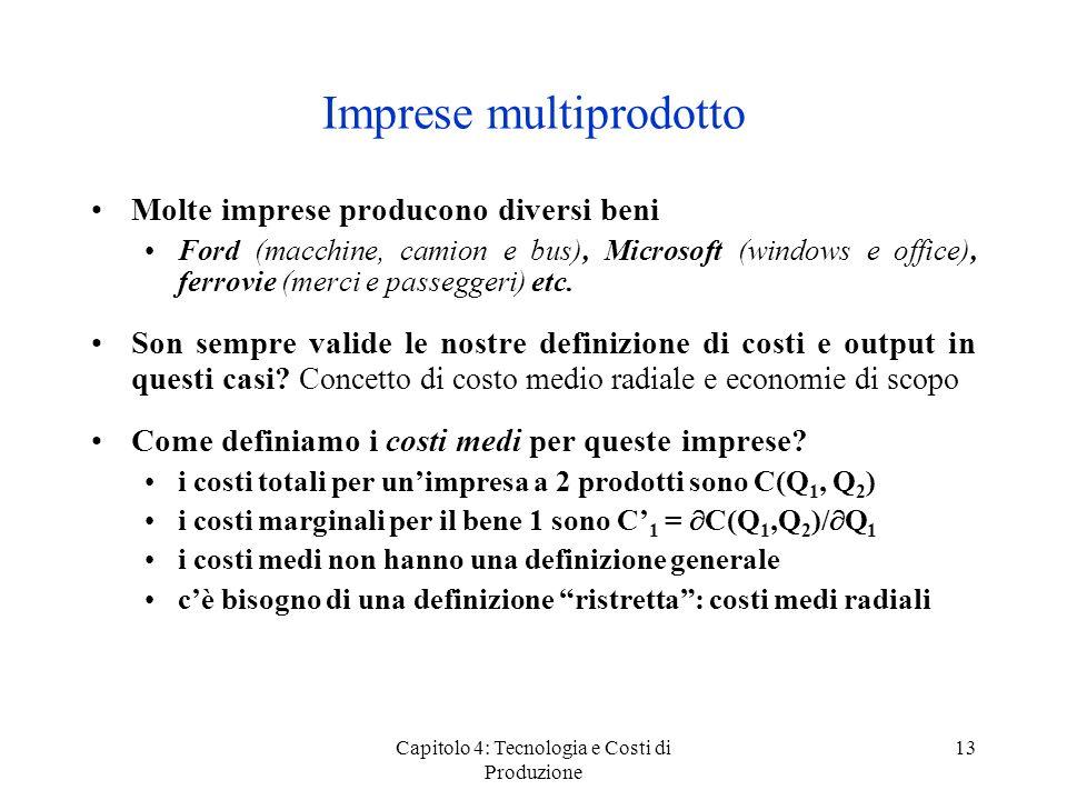 Imprese multiprodotto