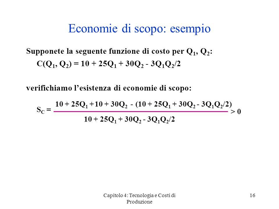 Economie di scopo: esempio