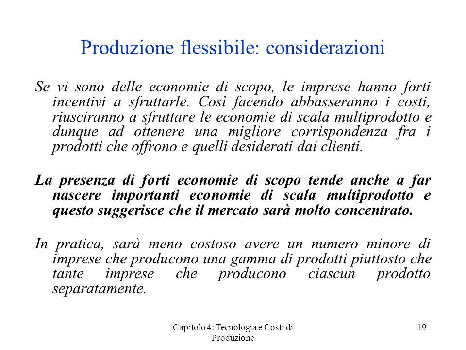 Produzione flessibile: considerazioni