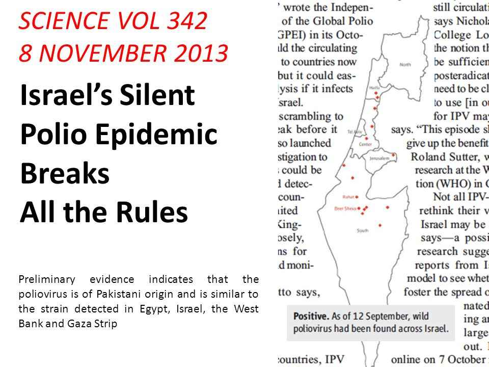 Israel's Silent Polio Epidemic Breaks All the Rules