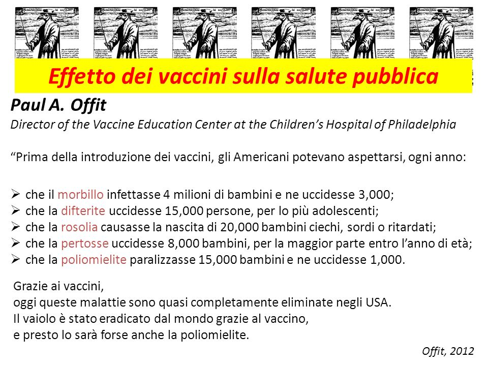 Effetto dei vaccini sulla salute pubblica