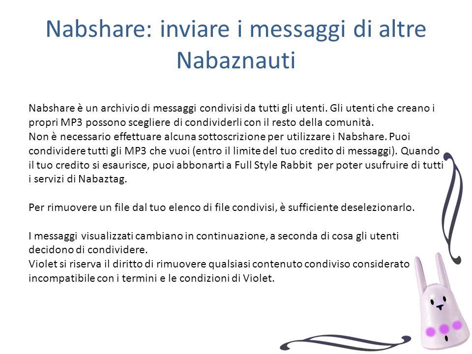 Nabshare: inviare i messaggi di altre Nabaznauti