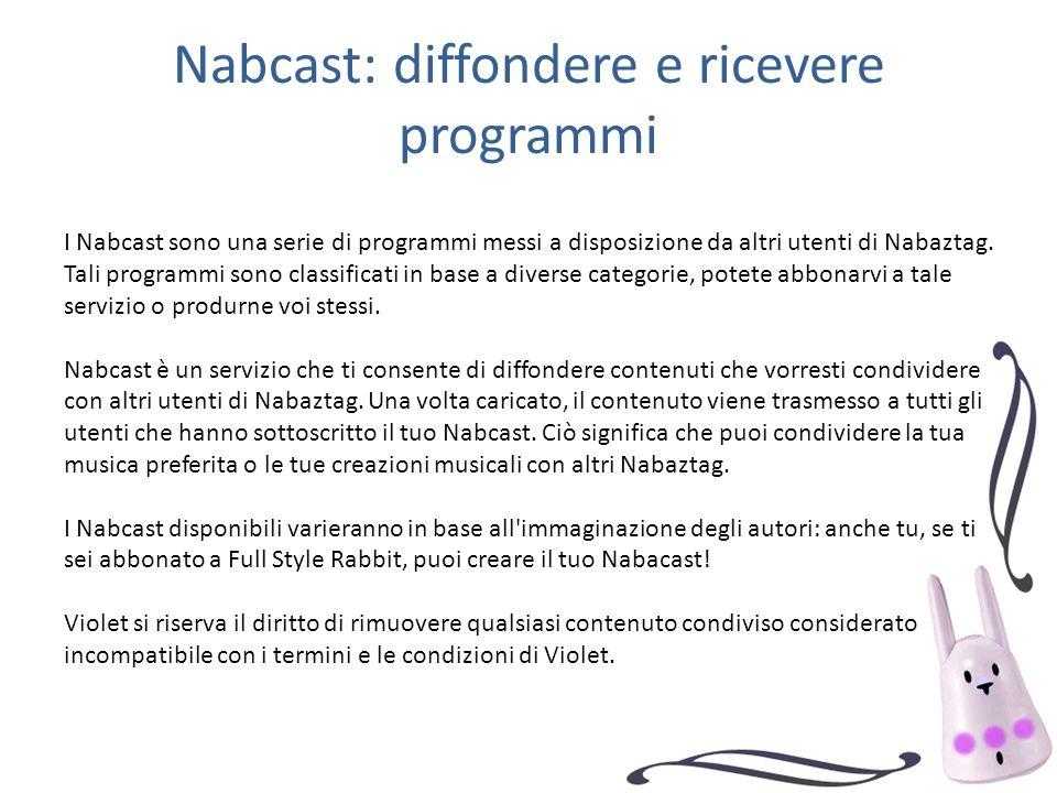 Nabcast: diffondere e ricevere programmi