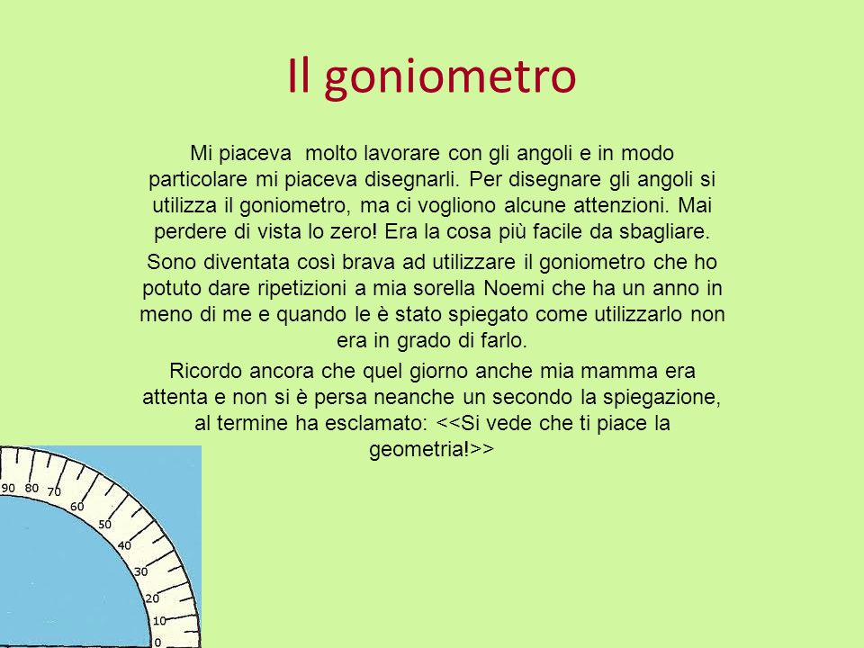 Il goniometro
