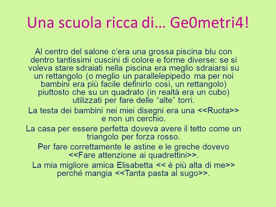 Una scuola ricca di… Ge0metri4!