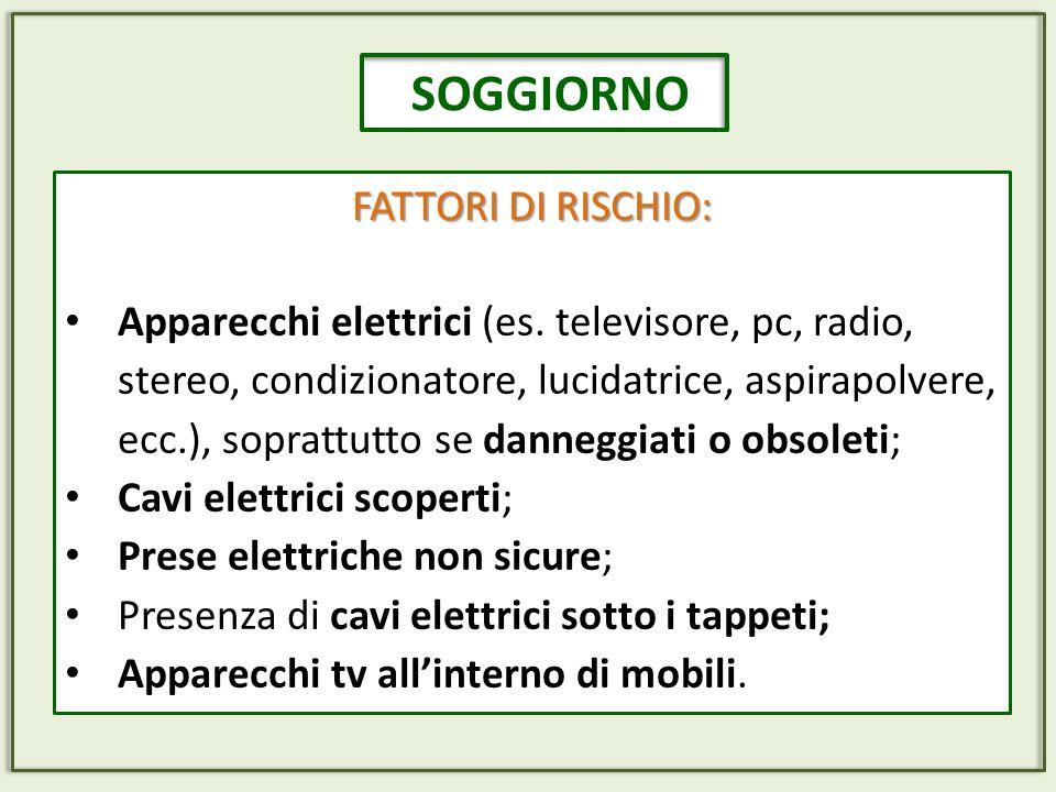 SOGGIORNO FATTORI DI RISCHIO: