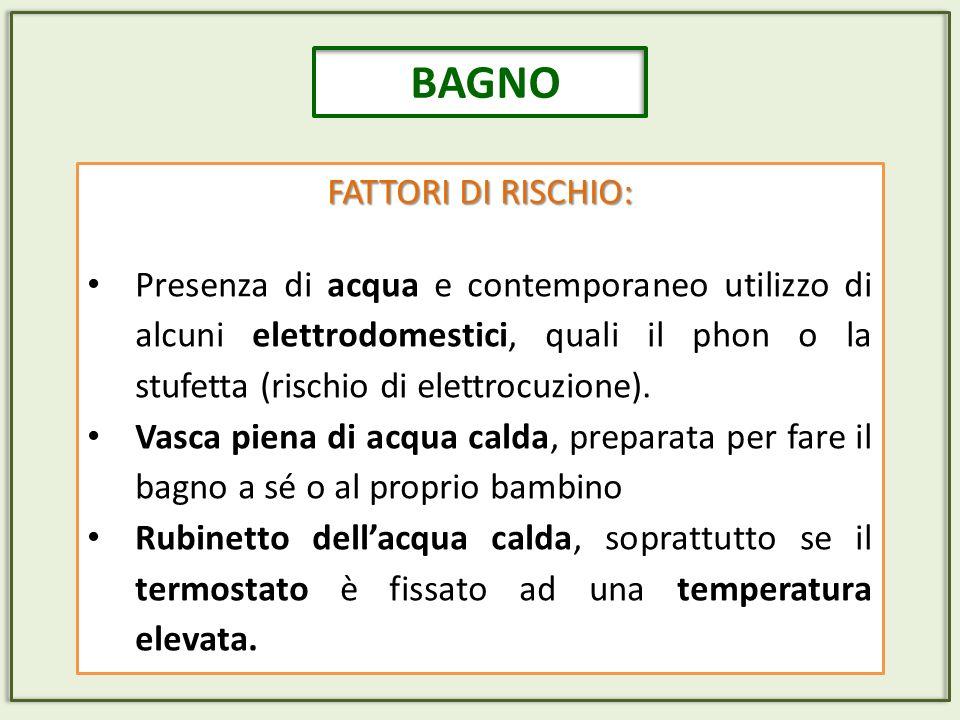 BAGNO FATTORI DI RISCHIO: