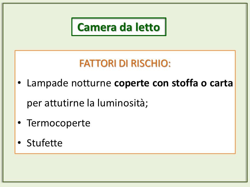 Camera da letto FATTORI DI RISCHIO: