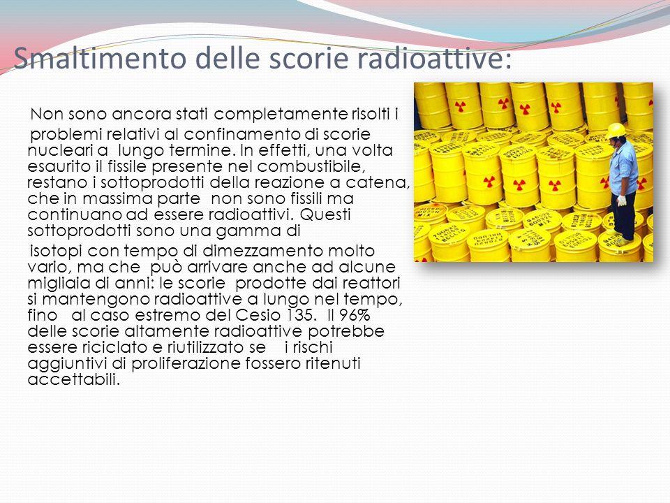 Smaltimento delle scorie radioattive: