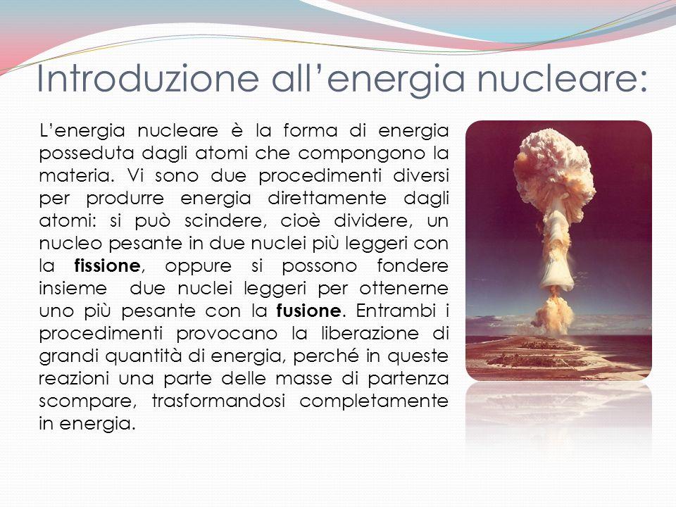 Introduzione all'energia nucleare: