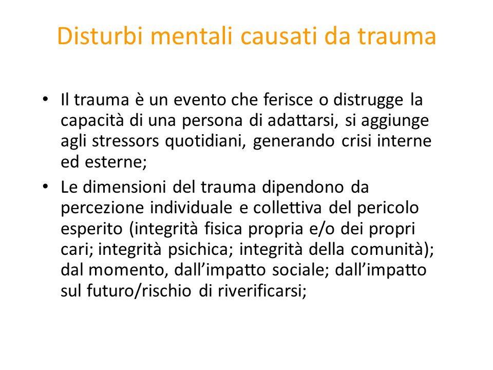 Disturbi mentali causati da trauma