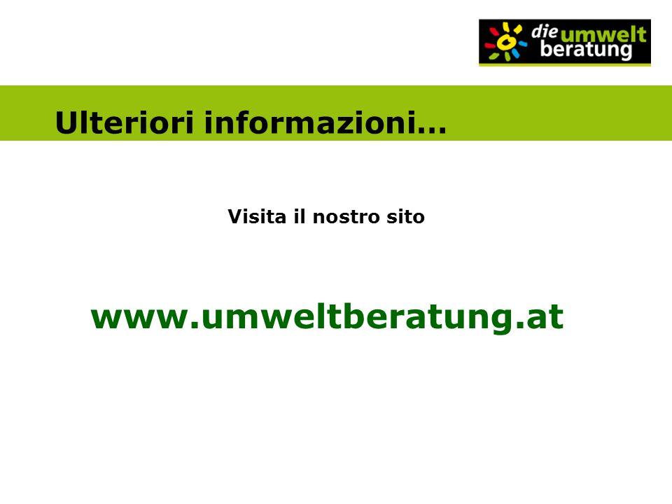 Ulteriori informazioni…