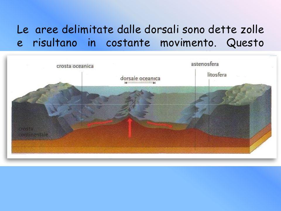 Le aree delimitate dalle dorsali sono dette zolle e risultano in costante movimento.