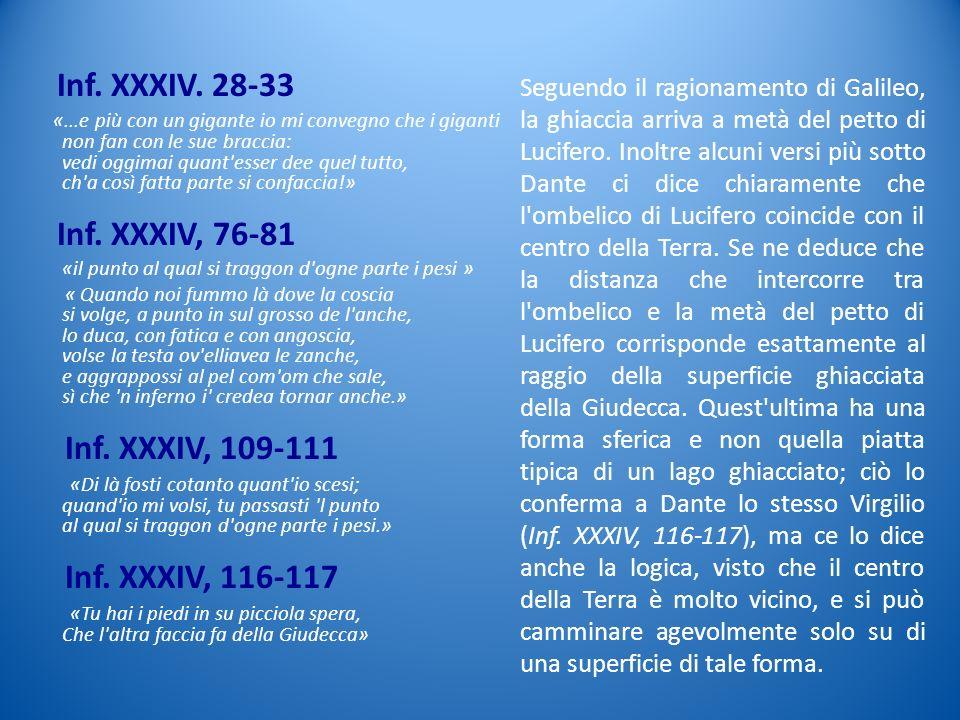 Inf. XXXIV. 28-33 Inf. XXXIV, 76-81 Inf. XXXIV, 109-111