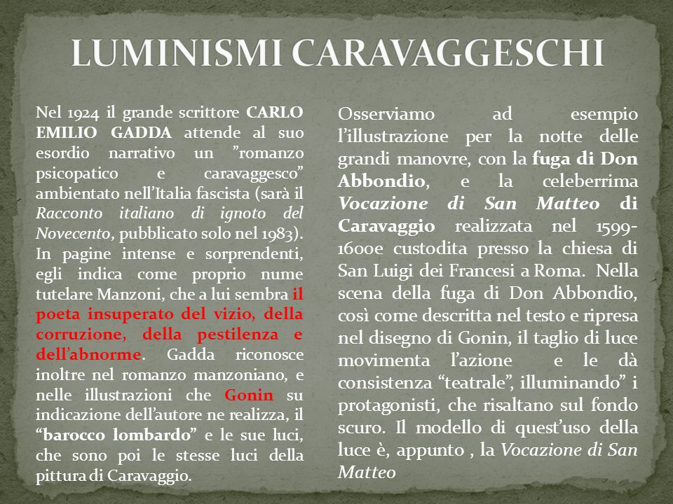 LUMINISMI CARAVAGGESCHI