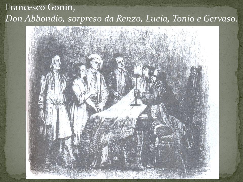 Francesco Gonin, Don Abbondio, sorpreso da Renzo, Lucia, Tonio e Gervaso.