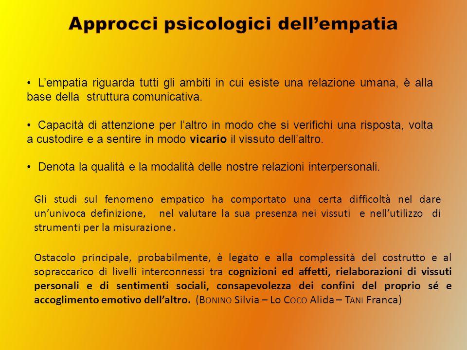 Approcci psicologici dell'empatia